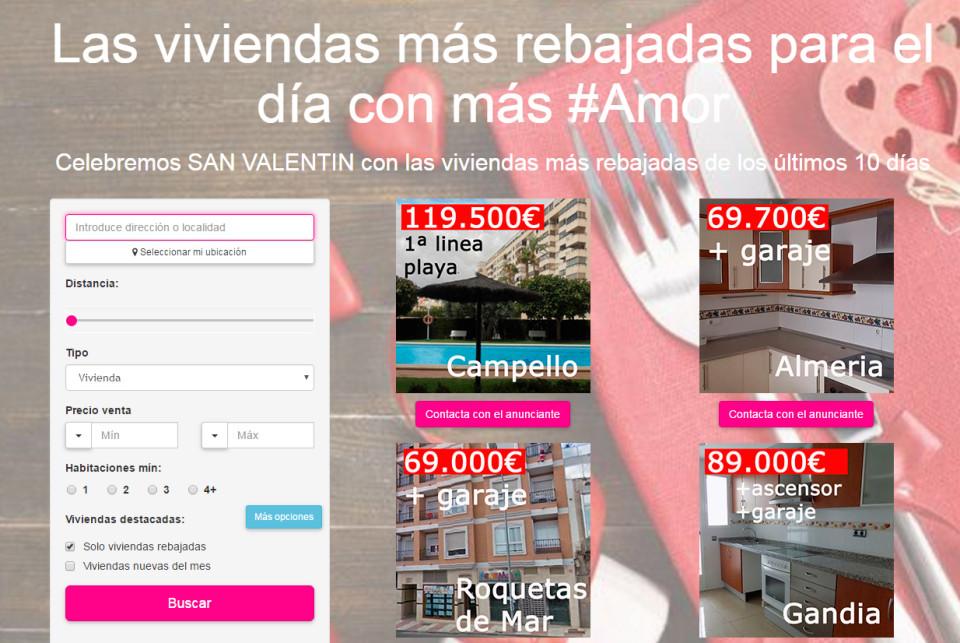 Especial san valentin las viviendas que te llegar n al for Inmobiliarias de bancos