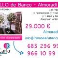 Apartamento en venta de banco en Almoradí p