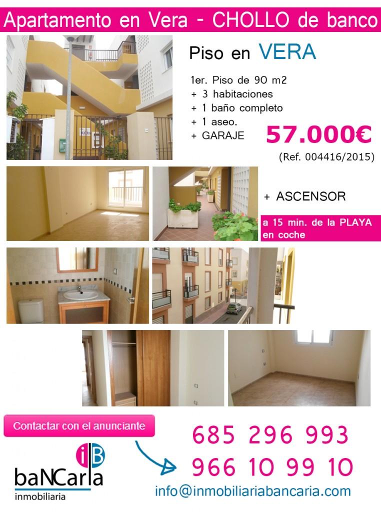 Apartamento en vera almeria chollo de for Pisos de bancos en almeria