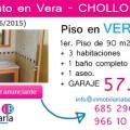 Apartamento en venta de banco en Vera Almeria Piso pApartamento en venta de banco en Vera Almeria Piso p