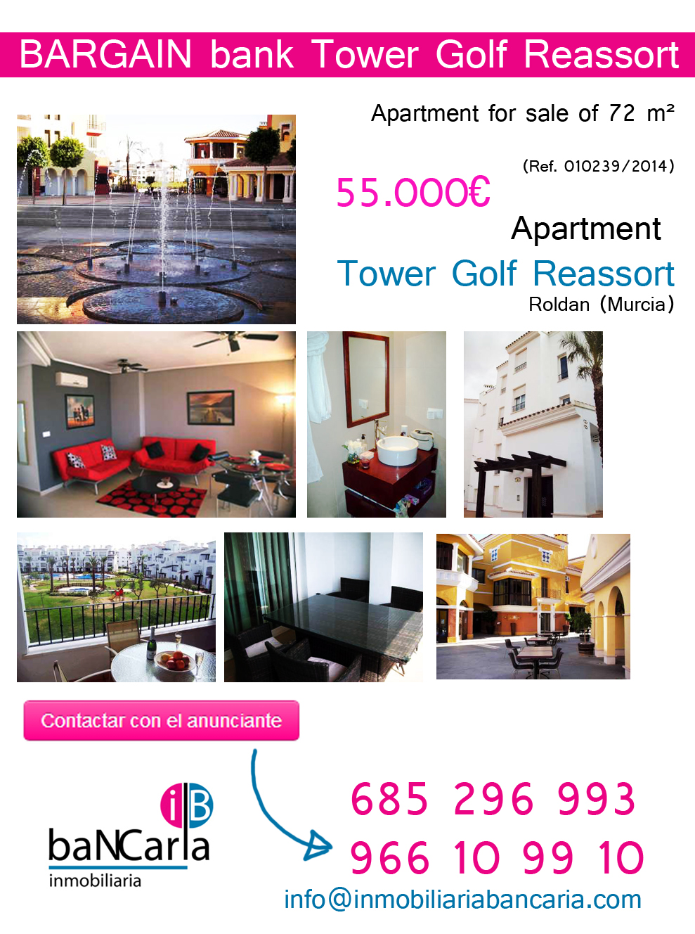 Apartment for sale in  Tower Golf Reassort Roldan (Murcia)