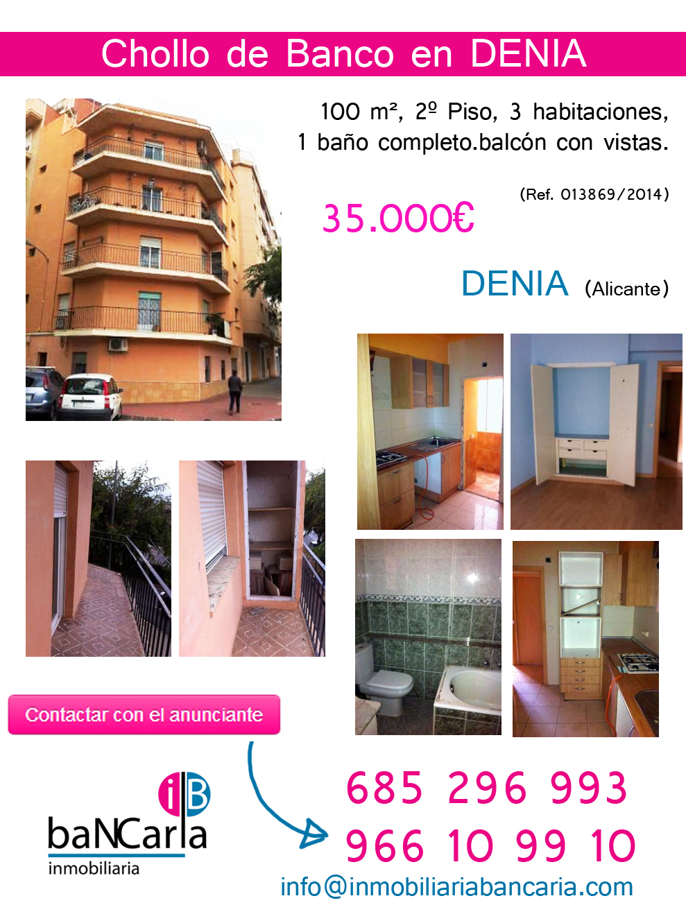 Piso de banco a la venta en denia alicante chollo de for Pisos del banco en alicante