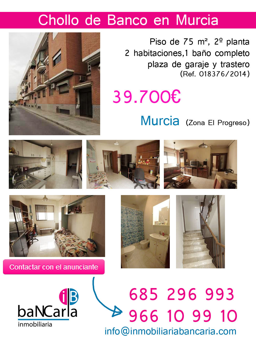Casa en Venta de Banco en Murcia (Zona El Progreso