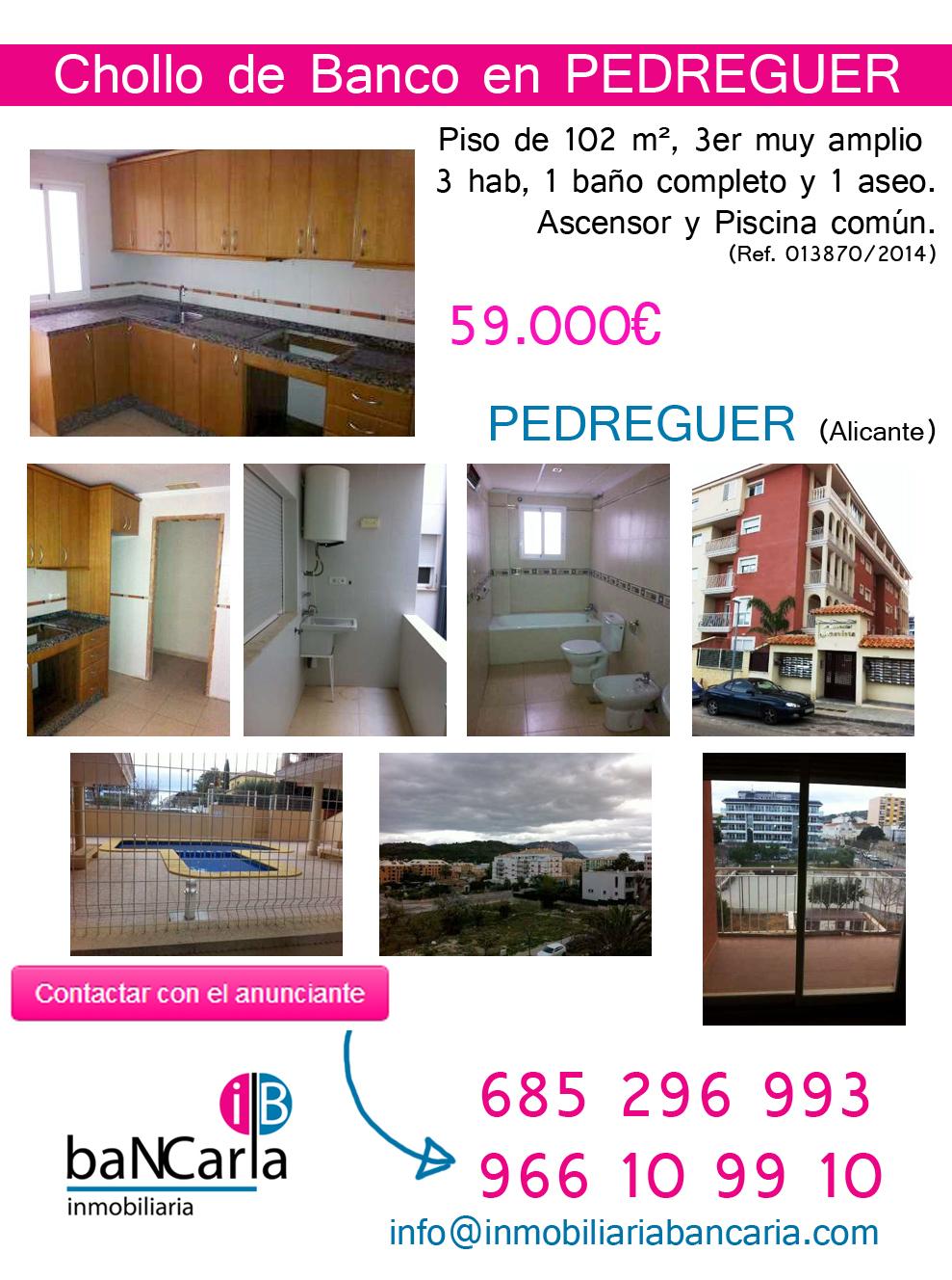 Piso Apartamento en Venta de banco en Pedreguer