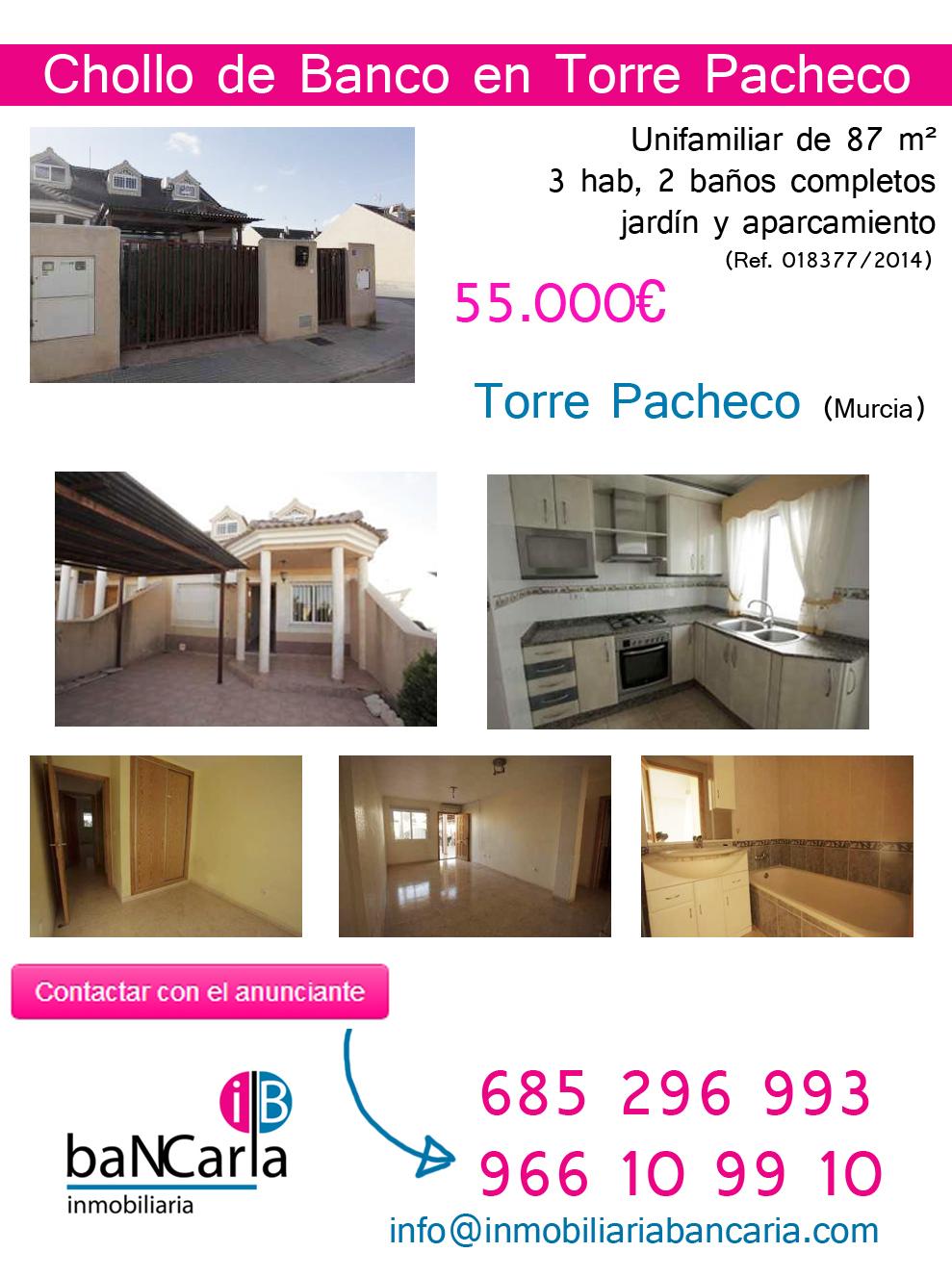 Unifamiliar a la Venta de Banco en Torre Pacheco (Murcia)