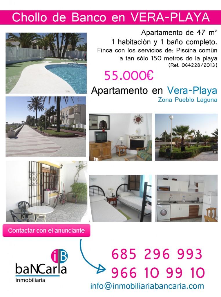 Apartamento a la venta en vera playa de 47 m a 150m de la for Pisos de bancos en la playa