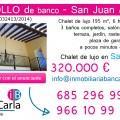 Chalet de lujo de banco a la venta en San Juan  (Alicante) inmobiliaria bancaria