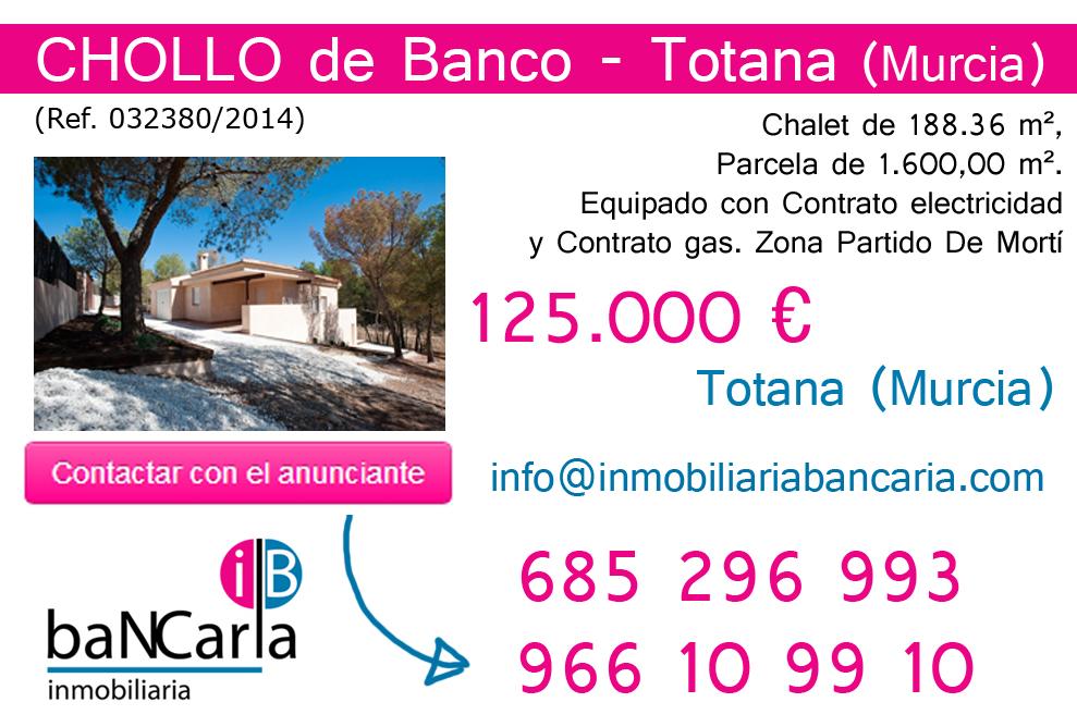 Chalet en venta de banco en Totana-Murcia p