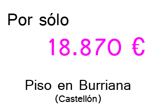Fotos piso de banco Burriana precio