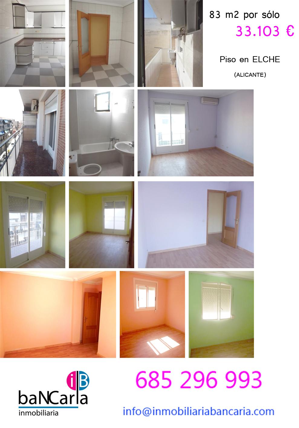 piso de banco en elche y 83 m2 embargo en