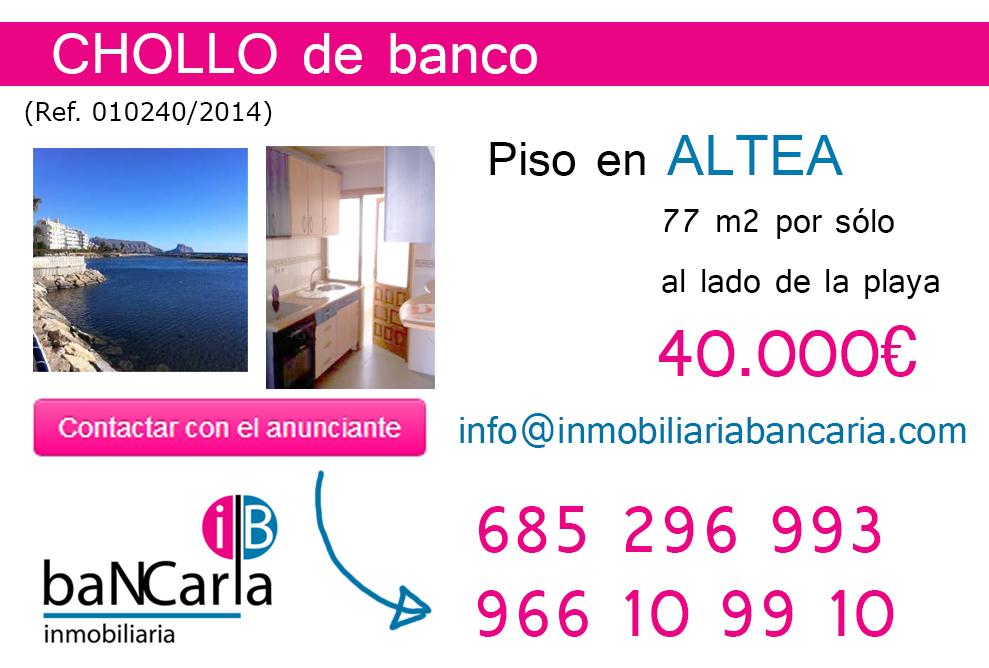 Piso de banco en venta en altea playa inmobiliaria for Pisos de bancos en segovia