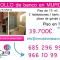 Piso a la Venta de Banco en Murcia
