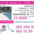 Piso apartamento en venta de banco en Vera zona pueblo laguna