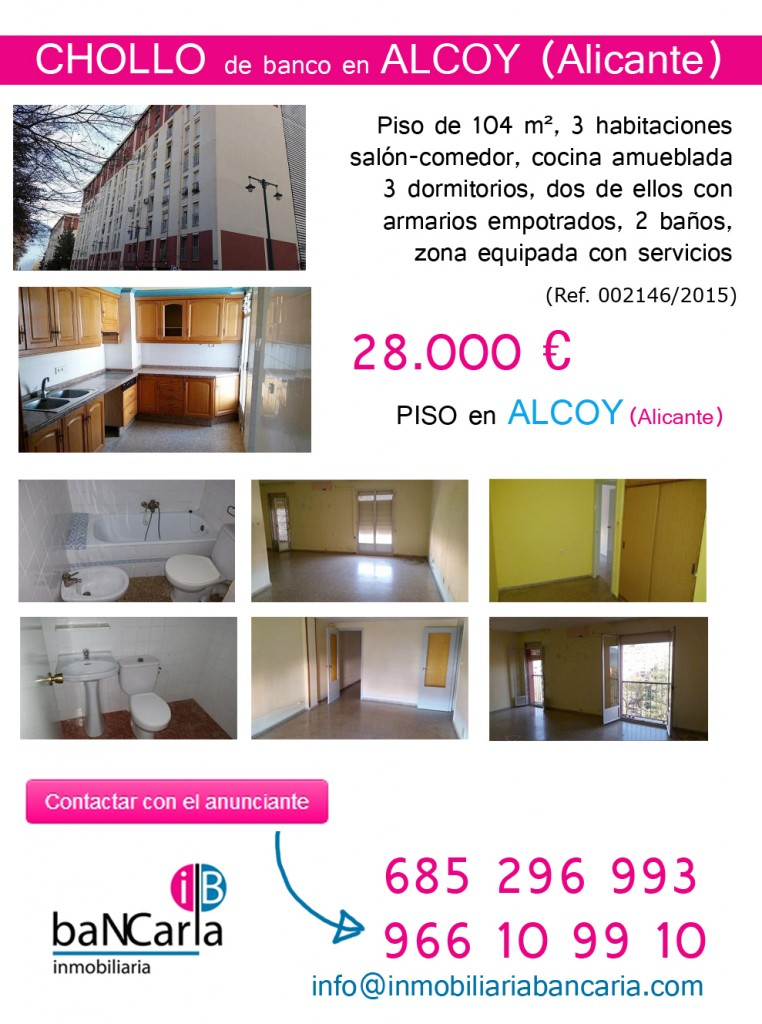 Piso de banco a la venta en alcoy alicante chollo 28 for Pisos del banco en alicante