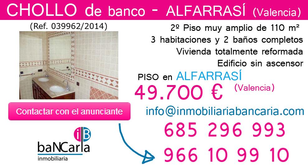 Piso de banco a la venta en Alfarrasí (Valencia) inmobiliaria bancaria p