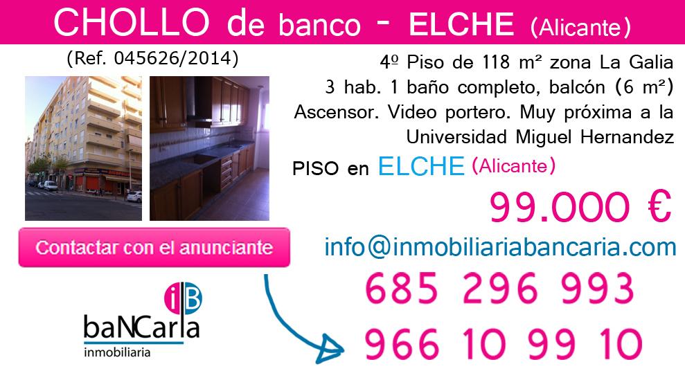 Piso de banco a la venta en Elche (Alicante) inmobiliaria bancaria p
