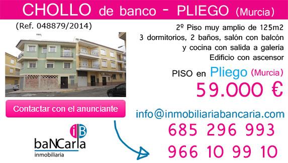 Piso de banco a la venta en Pliego (Murcia) inmobiliaria bancaria p