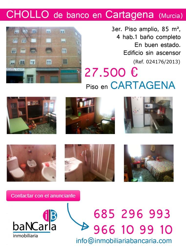 Piso en venta de banco Cartagena inmobiliaria