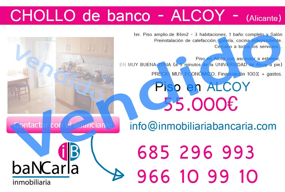 Piso en venta de banco en Alcoy (Alicante) p vendido