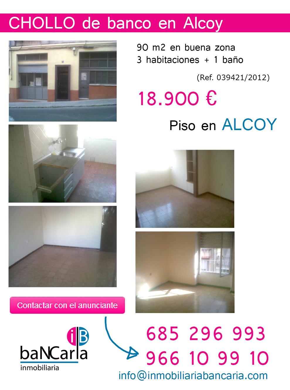Piso en venta de banco en Alcoy inmobiliaria