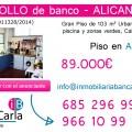 Piso en venta de banco en Alicante Inmobiliaria
