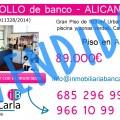 Piso en venta de banco en Alicante Inmobiliaria p VENDIDO