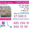 Piso en venta de banco en Cartagena inmobiliaria p