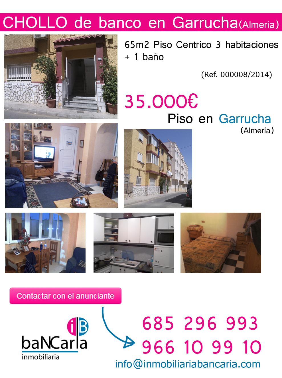 Piso en venta de banco en Garrucha-Almería Inmobiliaria