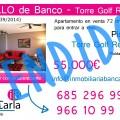 Vendido piso en venta de banco en Roldan Murcia