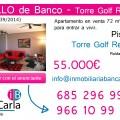 Piso en Venta de banco en Torre Golf Reassort Roldan (Murcia)