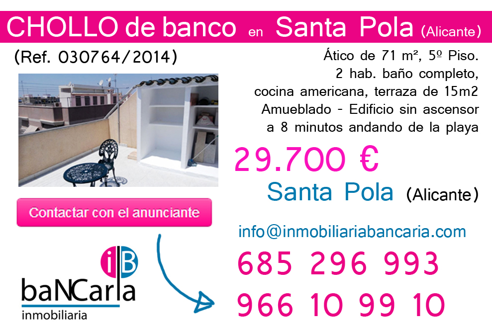 Piso embargo alicante inmobiliaria bancaria for Pisos de bancos en la playa