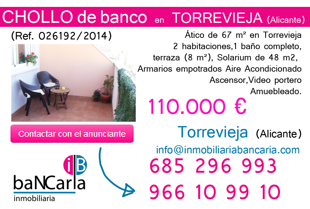 iso en venta de banco en Torrevieja (Alicante) p