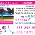 Unifamiliar de banco a la venta en Almoradí inmobiliaria p