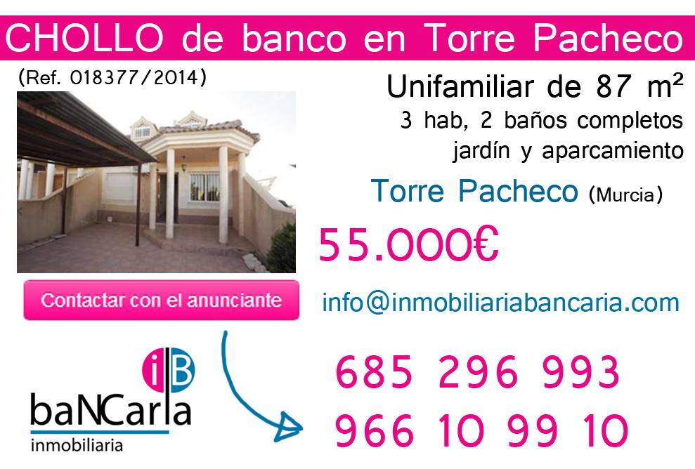 Unifamiliar de Banco al a Venta en Torre Pacheco (Murcia)