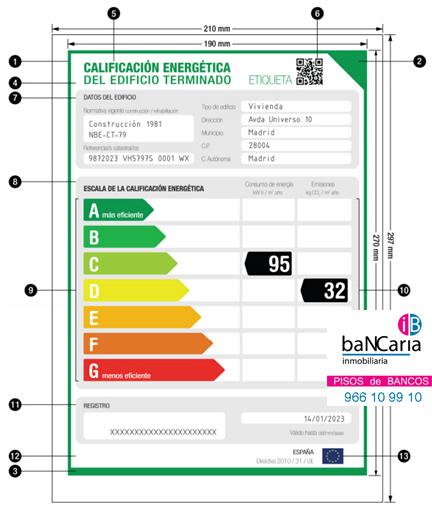 certificado energetico edificios viviendas inmobiliaria bancaria pisos casas vivienda inmuebles bancos banco malo